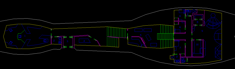 Ro-Tarn interior layout, Deck 2