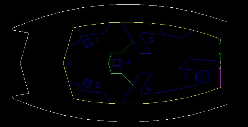 Ro-Tarn interior layout, bridge detail