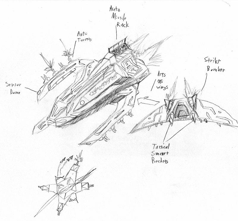 Warbringer Mahlok Gunship Concept