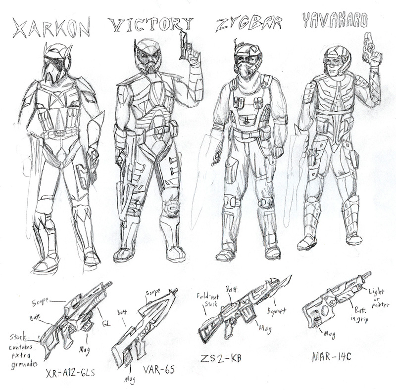 Human Faction Soldiers