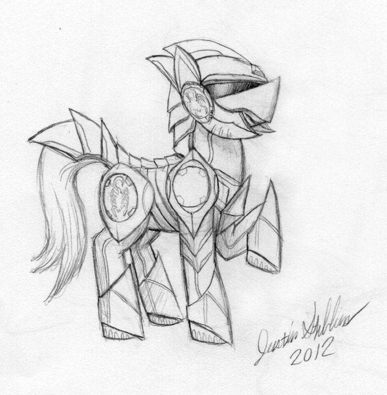 Saber-Scorpion Pony