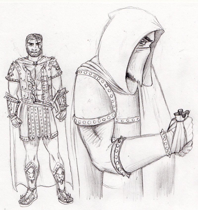 how to draw a hooded figure