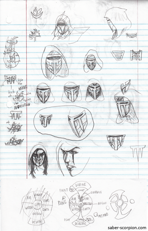 Inquisition & Magic Wheel Doodles