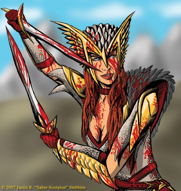 Skogul, Valkyrie of Odin (bloody)