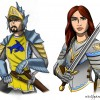 Sir Marks and Lady Severina, Knights of Illikon