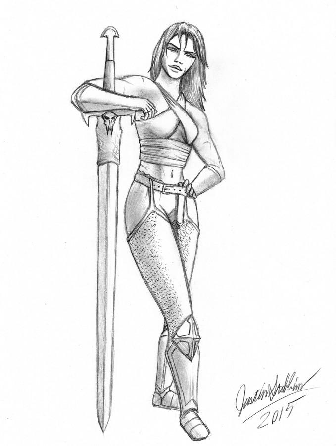 Kickstarter Backer Sketch: Lady Templar