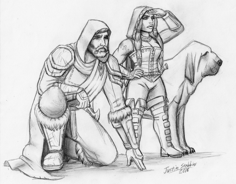 Art Commission: Agethar, Krilda, and Maugrimm