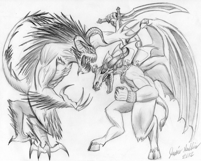 Demon of Wrath versus Demon of Greed