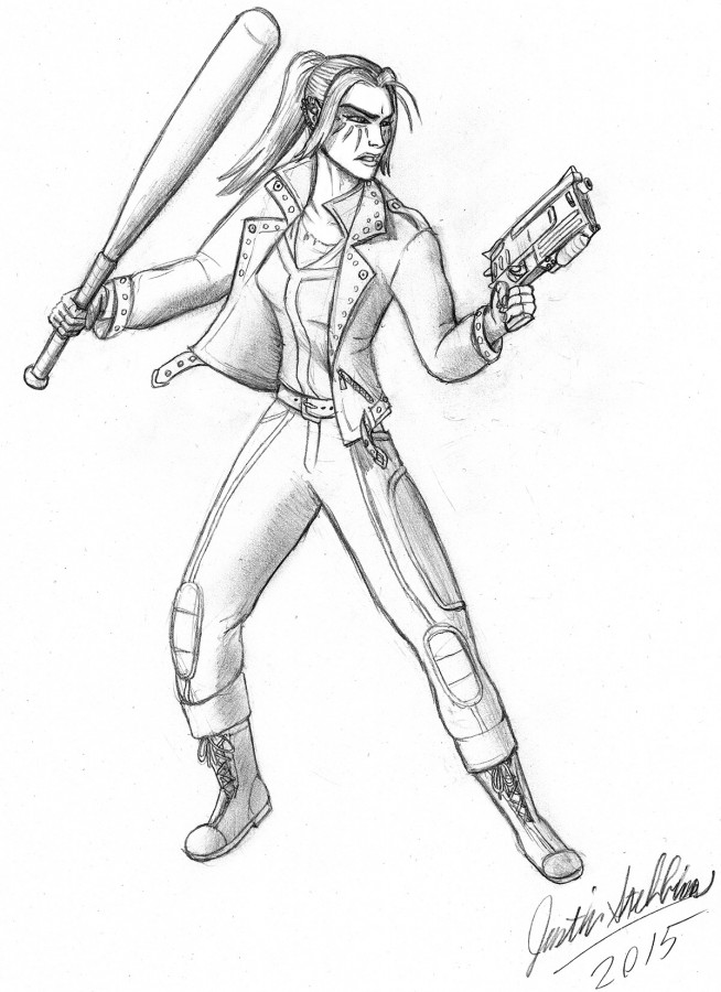 Kickstarter Backer Sketch: Fallout Character