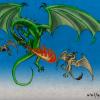 Dragon vs. Wyverns